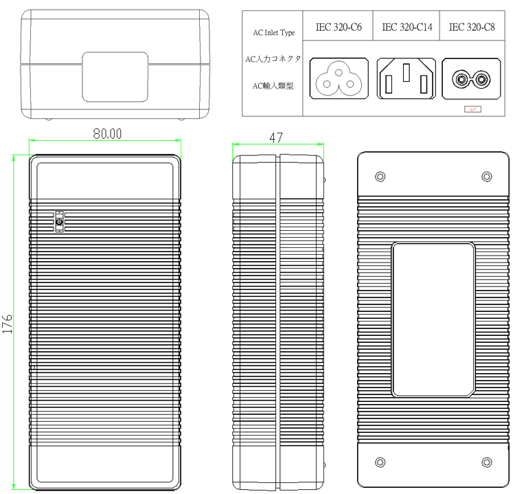 Lead acid Electric bike charger 3-Pin XLR Plug 43.8V 4A